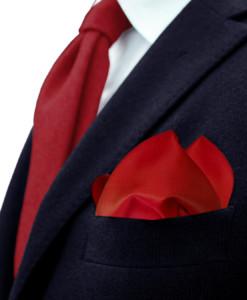 Made in Italy Remo Sartori Uomo Cravatta in Pura Seta a Cerchi Bianco su Fondo Rosso